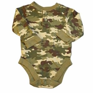 Camo Long Sleeve Bodysuit BOGO FREE